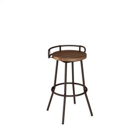 Bluffton Swivel Stool With Backrest