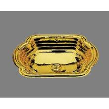 La Reina - Lavatory - Riatta Pattern - Antique Brass