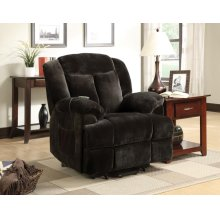 Casual Chocolate Velvet Power Lift Recliner