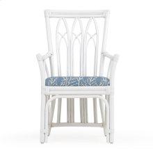 Rattan Dining Arm Chair White 8110