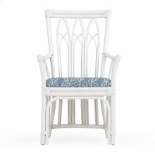 Rattan Dining Arm Chair White 8110