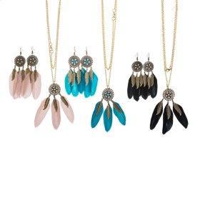 12 set. ppk. Dreamcatcher Earrings & Necklace
