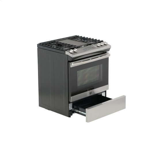 """GE® 30"""" Slide-In Front Control Gas Range (OPEN BOX CLOSE OUT)"""