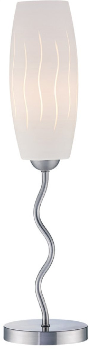 Table Lamp, Ps/frost Glass Shade, E27 Cfl 23w
