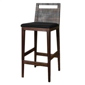 Wilshire Rattan Bar Stool, Sky Black (Cushion Sold Separately)