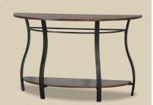 Montana Oak Plank 1/2 Moon Sofa Table