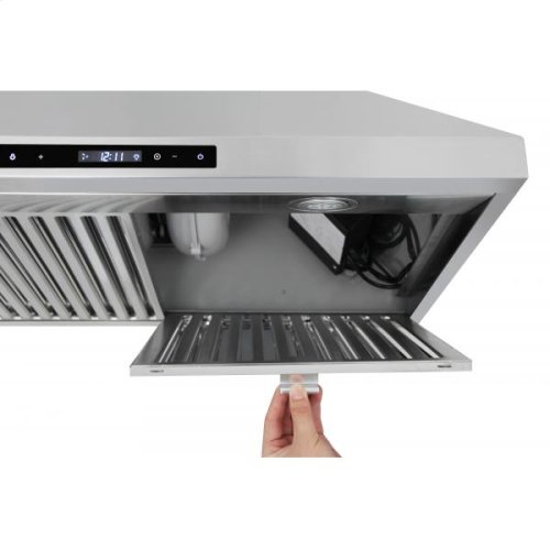 30in Wall Mount Chimney Range Hood In Stainless Steel With LED Lights, Touch Control With Display and Remote Control