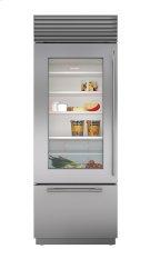 "30"" Built-In Over-and-Under Glass Door Refrigerator/Freezer Product Image"