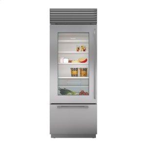 """Subzero30"""" Built-In Over-and-Under Glass Door Refrigerator/Freezer"""