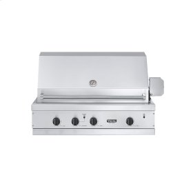 "Stainless Steel 41"" Ultra-Premium E-Series Grill - VGBQ (41"" wide E-Series with three standard 29,000 BTU burners (LP/Propane))"