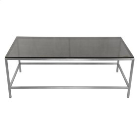 Shea KD Coffee Table Frame(TOP SOLD SEPARATELY), Brushed Stainless Steel