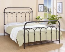 Hallwood Bed - Queen, Rust Black Finish