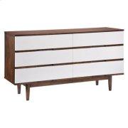 La Double Dresser Walnut & White Product Image