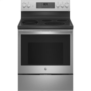 "GEGE Profile™ 30"" Smart Free-Standing Electric Convection Fingerprint Resistant Range with No Preheat Air Fry"