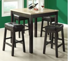 DINING SET - 5PCS SET / CAPPUCCINO WITH BEIGE MARBLE TOP