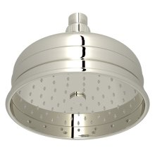 "Polished Nickel 6"" Bordano Rain Anti-Cal Showerhead"