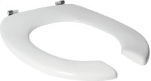 Open rim toilet seat (seat only) - White Alpin