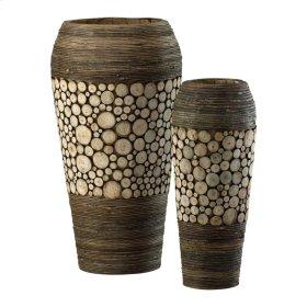 Wood Slice Oblong Vases