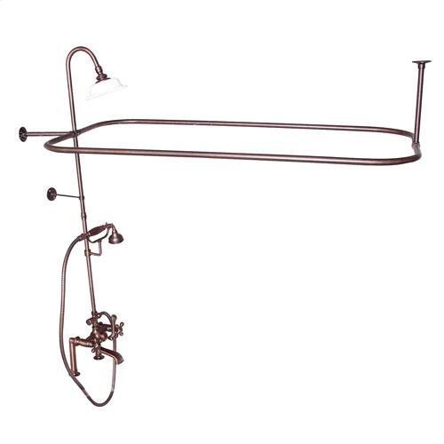 Code Rectangular Shower Unit - Cross / Oil Rubbed Bronze