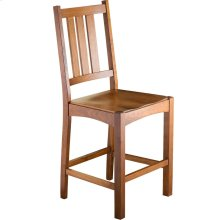 Mission Slat Counter Chair - Wood Seat