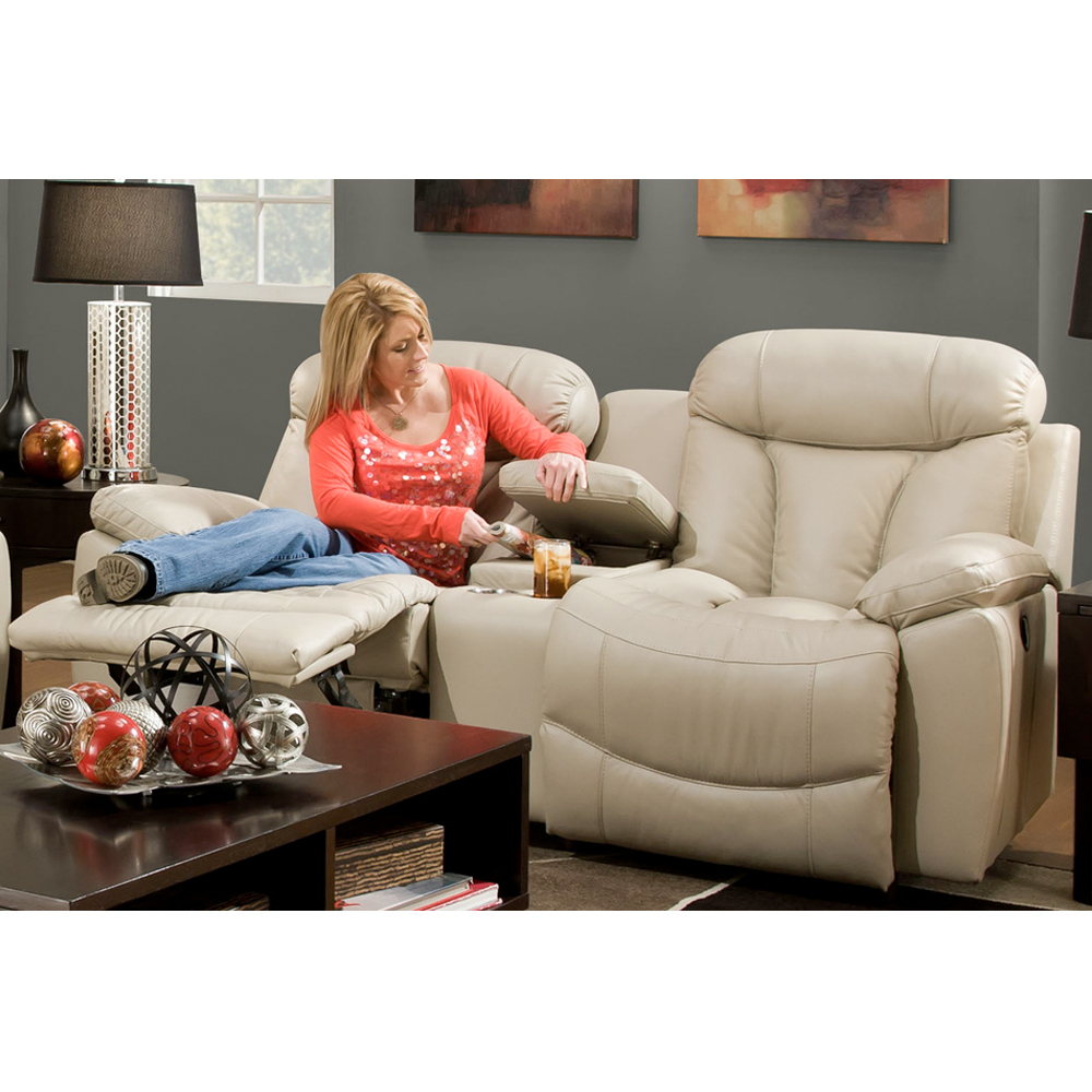 Hidden · Additional Double Reclining Sofa