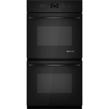 "Double Wall Oven with Upper MultiMode® Convection, 27"", Black Floating Glass w/Handle"