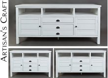 "Artisan's Craft 70"" Media Console - Weathered White"