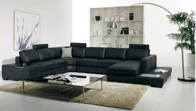 Fantastic Divani Casa T35 Modern Bonded Leather Sectional Sofa With Light Gamerscity Chair Design For Home Gamerscityorg