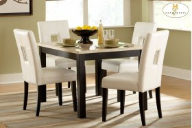 Dining Table, Faux Marble Top