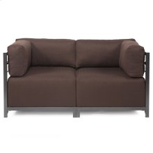 Axis 2pc Sectional Sterling Chocolate Titanium Frame