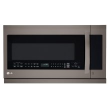 LG Black Stainless Steel Series 2.2 Cu Ft Over-the-range Microwave With 2nd Generation Slide-out Extendavent