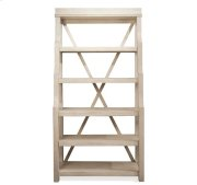 Aberdeen Open Display Cabinet Weathered Worn White finish Product Image