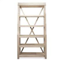 Aberdeen Open Display Cabinet Weathered Worn White finish