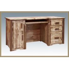 Homestead Computer Desk - Stained and Lacquered