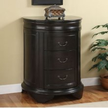Masterpiece Black 3-Drawer Accent Chest with Black granite top