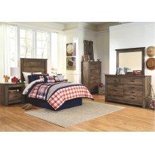 Twin Bed Set: Twin Bed, Nightstand, Dresser & Mirror