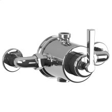 Lever exposed pressure balance mixing valve
