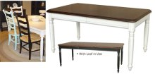Provence Rectangular Dining Table w/Leaf
