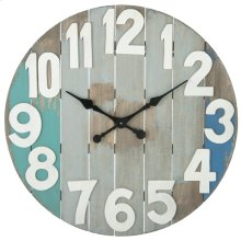 Slatted Wood Wall Clock.