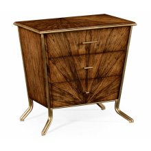 Argentinian Walnut Bedside Chest of Drawers