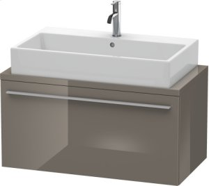 X-large Vanity Unit For Console Compact, Flannel Grey High Gloss Lacquer