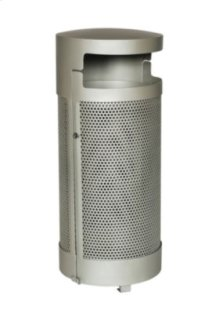 District Round Waste Receptacle with Door and Bonnet Hood, Round Pattern
