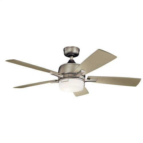 "Leeds LED 52"" Fan Brushed Nickel"
