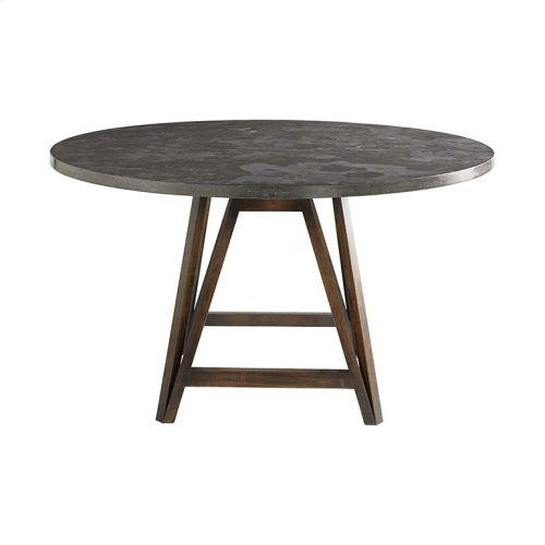 """Custom Dining 48"""" Copper Table w/Turned Base"""