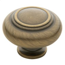 Satin Brass and Black Ring Deco Knob