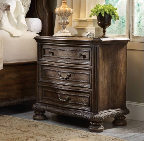 Rhapsody Three Drawer Nightstand