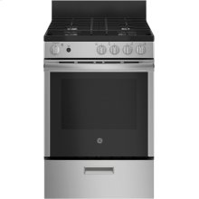 """24"""" 2.9 cu. ft Free Standing Gas Range with Steam Clean"""