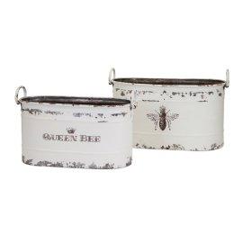 TY Queen Bee Tubs - Set of 2