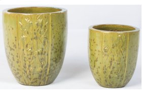 Tall Poppy Fields Planter - Set of 2