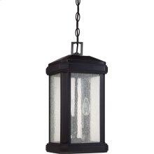 Trumbull Outdoor Lantern in Mystic Black